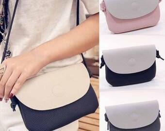 Personalised Monogramed Ladies Pebble Crossbody Bag Handbag Satchel (PU Leather)