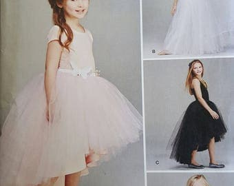 Simplicity 1122 Girls Tulle skirt sewing pattern UNCUT sizes 7-14