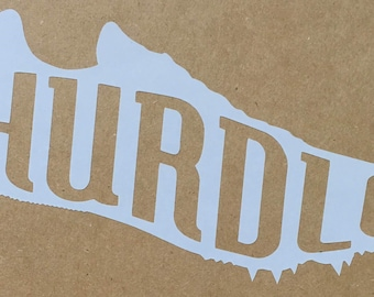 Track Spike Decal - Hurdle