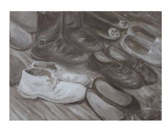 Oil Painting- 9'*12'- Still Life- Shoes