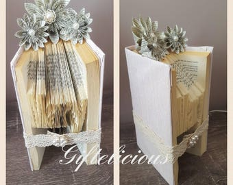 Beautiful personalised book folding gift