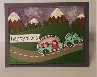 Happy Trails greeting card