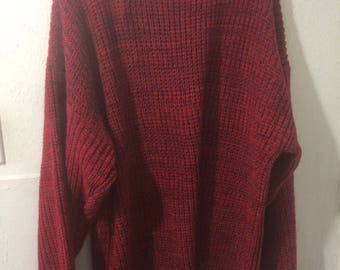XL Red Slouchy Sweater