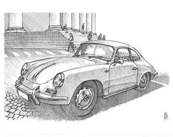 Porsche 356 - Original sketch