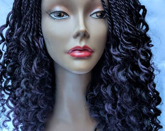Watermelon Braided Wig (Purple)