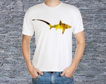 Men's art t-shirt - Colorful Shark Tee - Print T - T-shirt - Shark Shirt