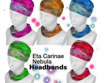 Eta Carinae, Nebula, Headband, Neck Scarf, Yoga Headband, Workout Headband, Boho Headband, Fitness headband, Yoga, Astronomer, Hair Fashion