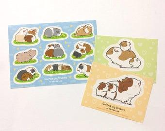 Guinea pig Stickers Set Sheet