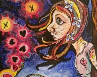 Gothic artwork, gothic art, gothic painting, original painting, fantasy art, fantasy painting