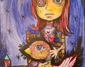 Gothic art, gothic artwork, gothic painting, doll art, doll artwork, doll painting