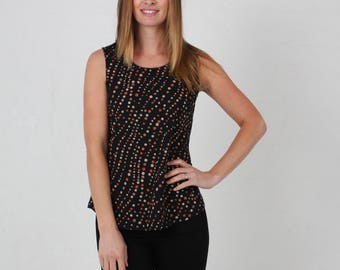Jaba Zoe Top in Spot Print - 100% Cotton