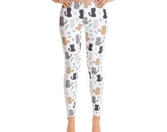 Kitten Leggings | Cat Leggings - Premium Women's Leggings - Fancee Pants Co.