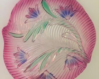 Large glass platter