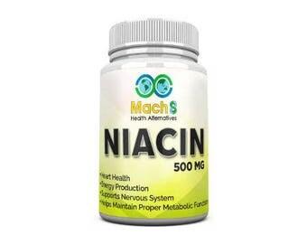 90 Niacin Veggie Capsules 500mg Each