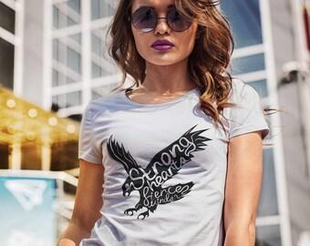 Eagle Shirt Women T Shirt Eagle Women T-shirt Women Clothing Typography Shirt Quote Shirt Women Tshirt Female Clothing Woman T-Shirt