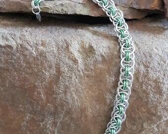 Chainmaille bracelet aluminium