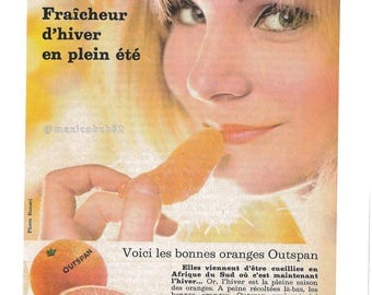 Advertising vintage 60s OUTSPAN Oranges freshness of winter in the summer