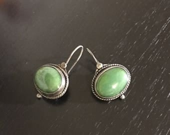Antique Look Green Earrings