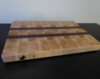 Maple, black walnut endgrain cutting board