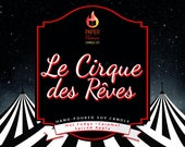 PRE ORDER *** Le Cirque des Reves - Hand-Poured Soy Wax Candle Inspired By The Night Circus