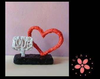 """Modern sculpture """"Love"""""""