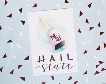 Mississippi State Cowbell Print