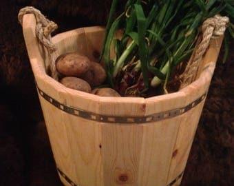 wood bucket