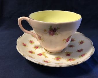 Mismatch Tea Cup and Saucer
