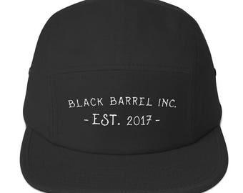Black Barrel Inc. Cotton 5Panel Hat Black