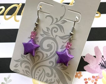 Purple Origami Lucky Star Earring (READY TO SHIP)