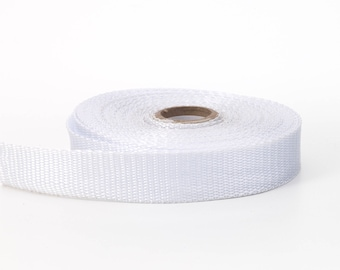 "Polypropylene webbing, 1"" Wide, 10 yds, White"
