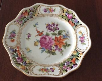Vintage  Dresden china plate