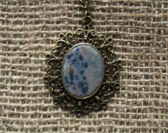 Bronze Vintage Handmade Gemstone Pendant with a Necklace