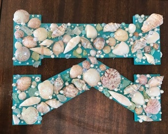Seashell decorated letter