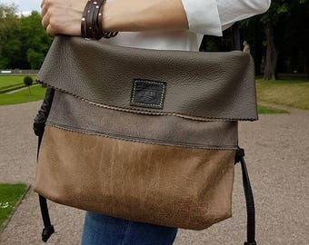 Ladies leather bag. Handmade.