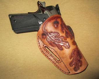 Hand tooled leather 1911 Holster