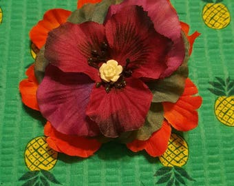 Pinup Pansie Hybrid Hair Flower Clip