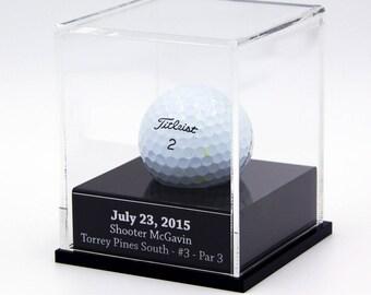 Engraved Golf Ball Display Case