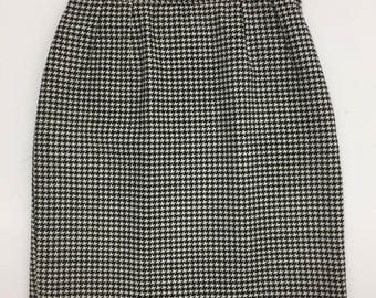 Vintage Valentino Houndstooth Mini Skirt