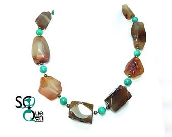 Natural gems - Agate necklace