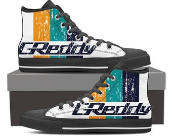 GReddy Unique Design Women's High Top Black / White