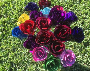 Hand Crafted Metal Roses