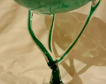Vintage Jozefina Krosno Jellyfish Art Glass Centrepiece