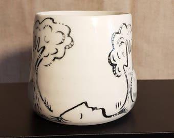 Cup illustrated porcelain, model 8