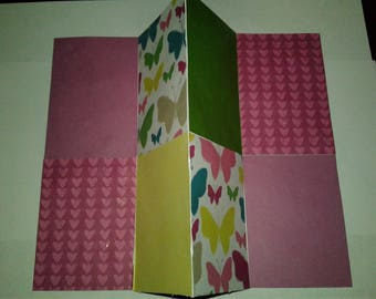 Trifold Hearts and Butterfly scrapbook