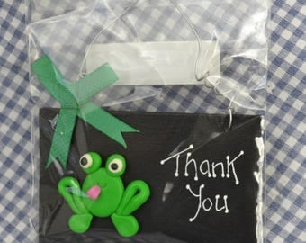 SALE ~ Quirky Fimo Frog, Thankyou plaque / sign