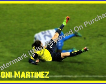Oxford United Toni Martinez Poster