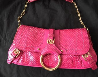 Dolce & Gabbana vintage handbag Fuchsia in Python skin.