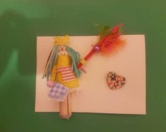 Handmade domestic goddess card