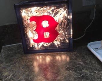 Lighted Personalized Glass Block
